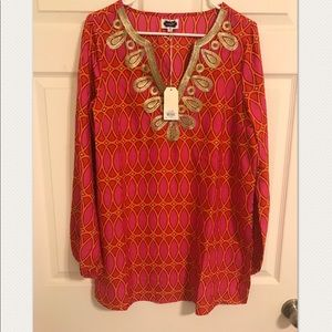 NWT Mud Pie tunic with gold embellish. size L